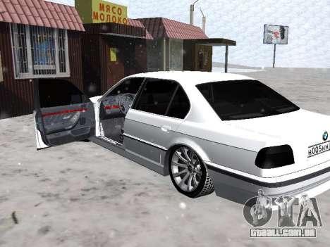 BMW 740I para GTA San Andreas vista traseira
