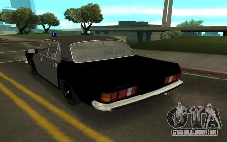 GAZ 24-10 Xerife para GTA San Andreas traseira esquerda vista