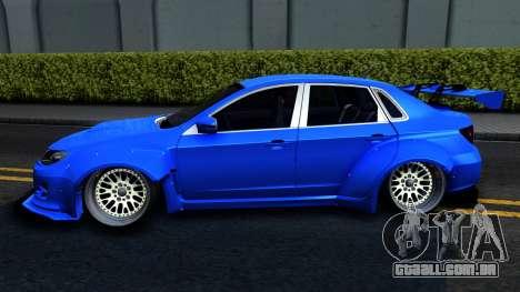 Subaru WRX STi Widebody para GTA San Andreas esquerda vista