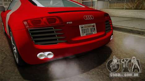 Audi R8 Coupe 4.2 FSI quattro EU-Spec 2008 YCH2 para GTA San Andreas vista inferior