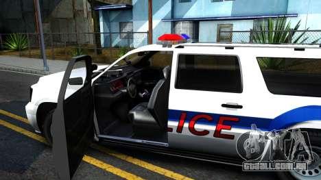 Declasse Granger Metropolitan Police 2012 para GTA San Andreas vista interior
