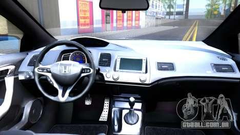 Honda Civic Si para GTA San Andreas vista traseira
