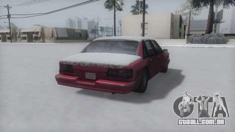 Premier Winter IVF para GTA San Andreas esquerda vista