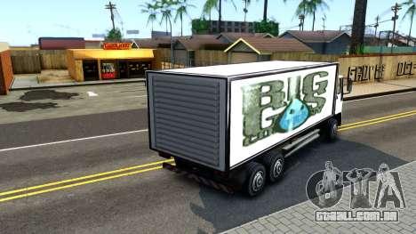 DFT-30 Box Truck para GTA San Andreas traseira esquerda vista