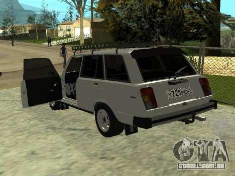 VAZ 2104 Krasnoyarsk para GTA San Andreas traseira esquerda vista