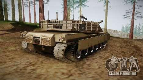 Abrams Tank para GTA San Andreas traseira esquerda vista