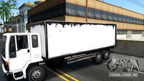 DFT-30 Box Truck para GTA San Andreas vista traseira