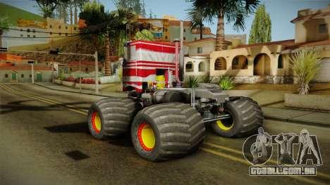 Peterbilt Monster Truck para GTA San Andreas vista direita