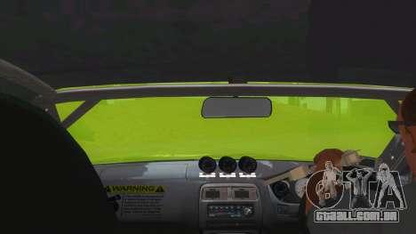Azuki Azusa Itasha Nissan Silvia Vinyl para GTA San Andreas vista interior