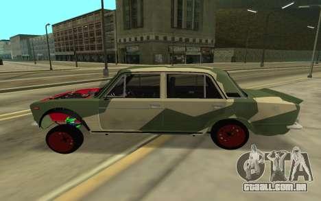 VAZ 2103 BATALHA CLÁSSICO para GTA San Andreas traseira esquerda vista