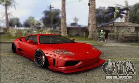 Ferrari 360 LB Work para GTA San Andreas vista traseira