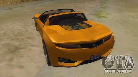 GTA V Dynka Jester Spider para GTA San Andreas traseira esquerda vista