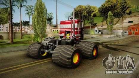 Peterbilt Monster Truck para GTA San Andreas esquerda vista