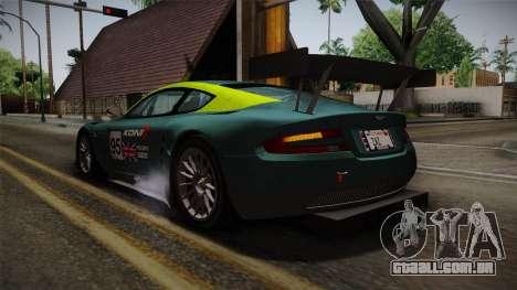 Aston Martin Racing DBRS9 GT3 2006 v1.0.6 para o motor de GTA San Andreas