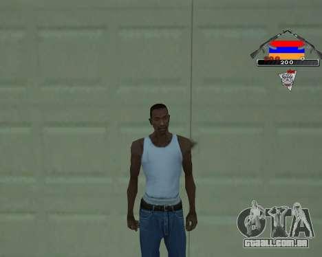 C-HUD Armenian V-1.0 para GTA San Andreas segunda tela