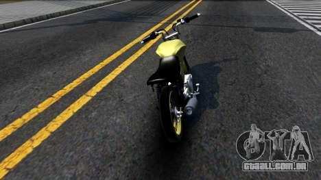 Honda Titan 150 Stunt para GTA San Andreas traseira esquerda vista