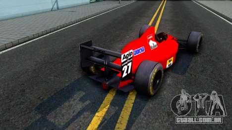 Ferrari 640 F1 1989 para GTA San Andreas vista direita