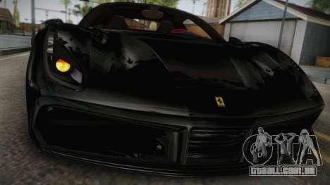 Ferrari 488 GTB para GTA San Andreas traseira esquerda vista