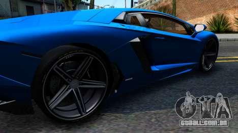 Lamborghini Aventador LP700-4 Light Tune para GTA San Andreas esquerda vista