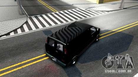 GTA V Declasse Burrito para GTA San Andreas vista interior