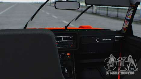 VAZ 2105 patch 3.0 para GTA San Andreas vista direita