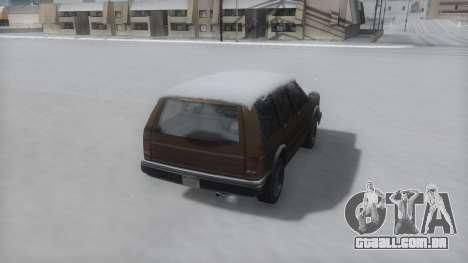 Landstalker Winter IVF para GTA San Andreas esquerda vista