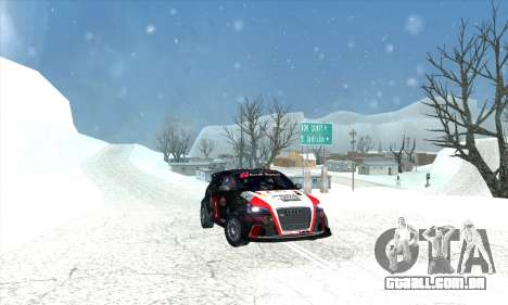 Audi RS3 Sportback Rally WRC para o motor de GTA San Andreas