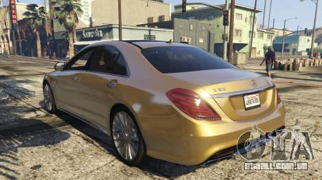 GTA 5 Mercedes-Benz S65 W222 vista lateral esquerda