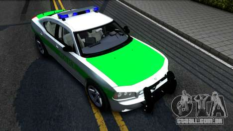 Dodge Charger German Police 2008 para GTA San Andreas vista direita
