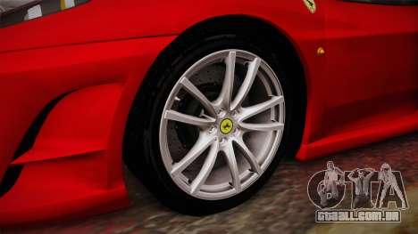 Ferrari F430 para GTA San Andreas vista traseira