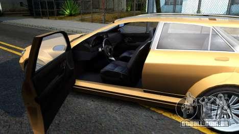 GTA V Benefactor Schafter Wagon para GTA San Andreas vista interior