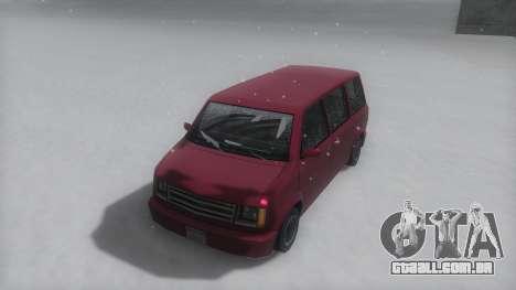 Moonbeam Winter IVF para GTA San Andreas traseira esquerda vista