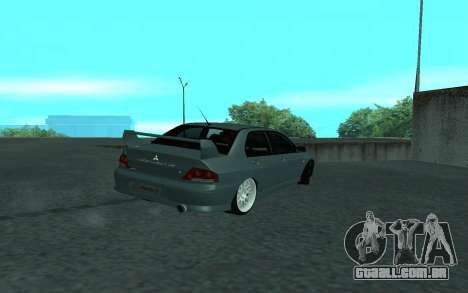 Mitsubishi Lancer Evolution VII para GTA San Andreas vista superior