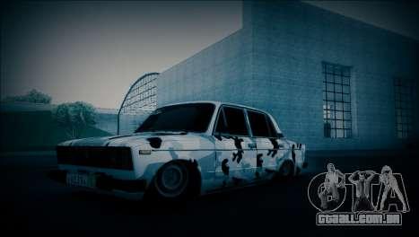 VAZ 2106 Camuflagem para GTA San Andreas traseira esquerda vista