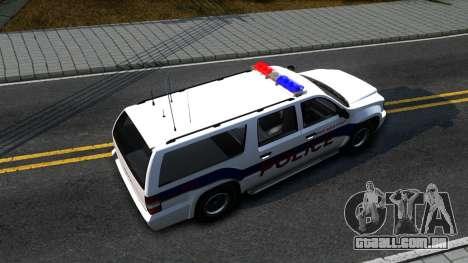 Declasse Granger Metropolitan Police 2012 para GTA San Andreas vista direita