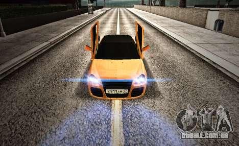 Lada Priora Tuning para GTA San Andreas vista direita