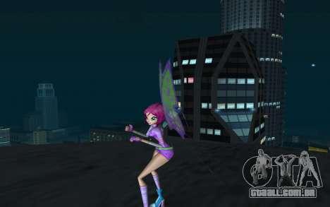 Tecna Believix from Winx Club Rockstars para GTA San Andreas segunda tela