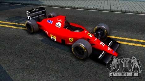 Ferrari 640 F1 1989 para GTA San Andreas esquerda vista