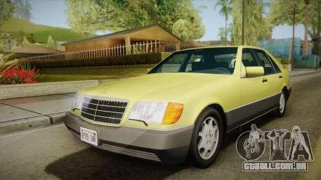 Mercedes-Benz 500SE 1991 v1.1 para GTA San Andreas