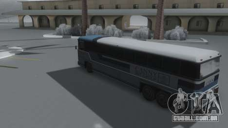 Bus Winter IVF para GTA San Andreas esquerda vista