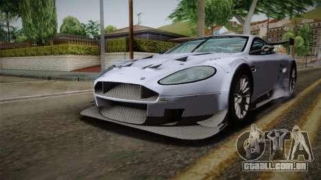 Aston Martin Racing DBR9 2005 v2.0.1 para GTA San Andreas vista direita