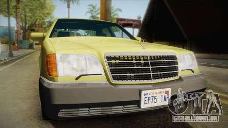 Mercedes-Benz 500SE 1991 v1.1 para GTA San Andreas vista direita
