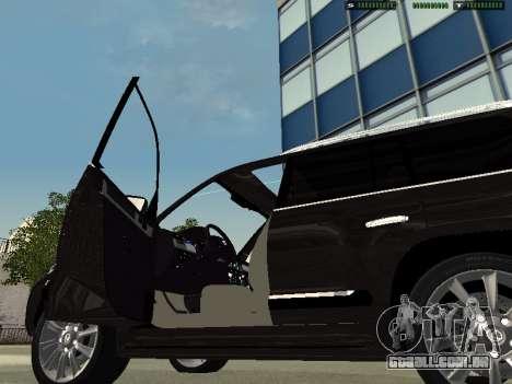 Lexus LX 570 2011 para GTA San Andreas traseira esquerda vista