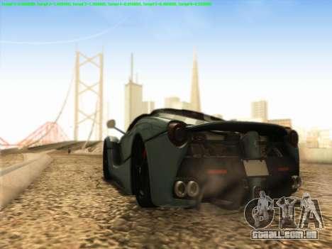 LaFerrari 2017 para GTA San Andreas vista direita
