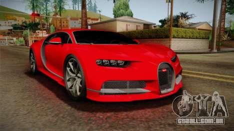 Bugatti Chiron 2017 para GTA San Andreas