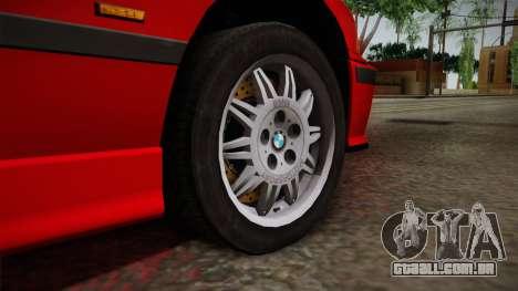 BMW 328i E36 Coupe para GTA San Andreas vista traseira