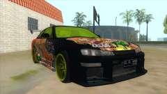 Azuki Azusa Itasha Nissan Silvia Vinyl para GTA San Andreas