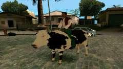 Andando na vaca