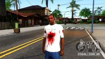 White I am Fine T-Shirt para GTA San Andreas