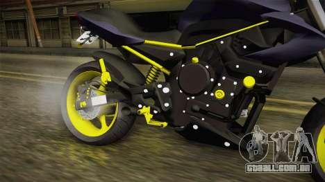 Yamaha XJ6 para GTA San Andreas vista interior
